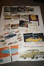 CHEVROLET PKW Truck 25 Seiten original Werbung ca 1951-56 Saturday Evening Post