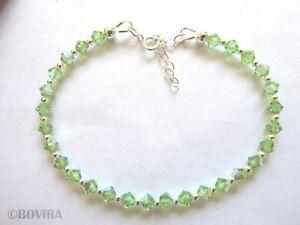 Crystals from Swarovski 925 Sterling Silver Handmade Bracelet For Women Gift