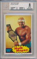 1985 Topps WWF Hulk Hogan Pro Wrestling Stars Card #1 BGS 8 #9983 High Subgrades