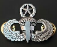 US Army Parachutist Cross Insignia Pin Airborne Chaplain MATER Jump Wing Badge