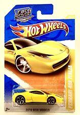 2010 Hot Wheels Ferrari 458 Italia Yellow New Model 34/340 HTF