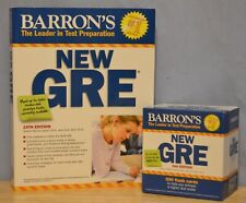 Barron's New GRE Book & Flash cards Graduate Record Exam Test Preparation