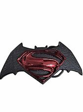 DC Comics BATMAN VS SUPERMAN Logo Metal Enamel BELT BUCKLE