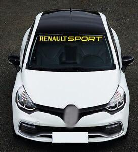 For RENAULT SPORT Car VINYL STICKER Windscreen Windshield BANNER DECAL Stripe