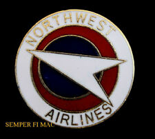 NORTHWEST ORIENT AIRWAYS US MAIL HAT PIN AIRLINE PILOT CREW AIRLINER AIRBUS WOW