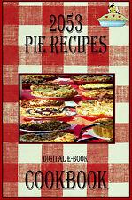 2053 Delicious Pie Recipes E-Book Cookbook CD-ROM