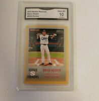 Bryce Harper 2013 Rookie Phenom Minor League Gold Card Syracuse Chiefs GMA 10