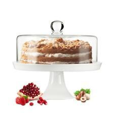 Glasglocke Kuchenglocke Käseglocke Fuß aus Porzellan Tortenplatte B-Ware