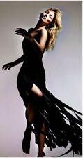 Kate Moss Topshop Schwarz Fransen Maxi Kleid UK 8-10 EU 36, Limited Edition! £ 350