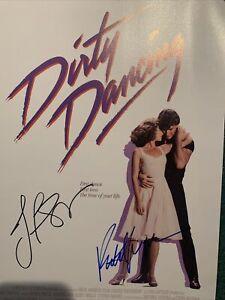 "Dirty Dancing ""PATRICK SWAYZE & JENNIFER GREY"" Signed Autographed Poster W/COA"