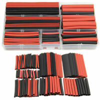 150pcs Polyolefin 2:1 Heat Shrink Tubing Tube Sleeving Wrap Wire Kit Cable +Case