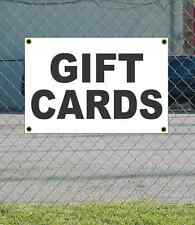 2x3 GIFT CARDS Black & White Banner Sign NEW Discount Size & Price FREE SHIP