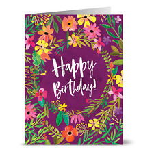 24 Note Cards - Blossoming Plum Birthday - Envs