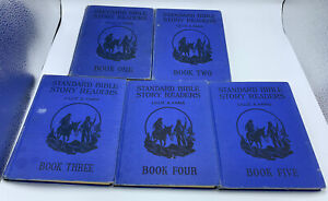 Standard Bible Story Readers Books One, Two, Three, Four, Five LOT LILLIE FARIS