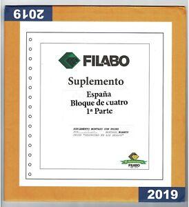 OFERTA Suplemento hojas España Filabo 2019/1ª parte bloque de cuatro