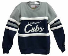 Mitchell & Ness Navy/Grey MLB Chicago Cubs Head Coach Sweatshirt