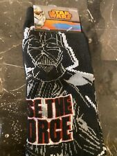 NEW STAR WARS Mens 2 Pair Of DARTH VADER USE THE FORCE Empire Socks - Size 6-12