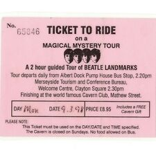 BEATLES Ticket To Ride Stub MAGICAL MYSTERY TOUR Liverpool CAVERN CLUB CONCERT