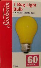 Sunbeam A-19 60-W Yellow Bug Light Bulb 1/Pk
