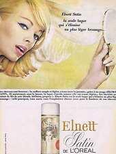 PUBLICITE ADVERTISING 015 1965 ELNETT satin de L'OREAL