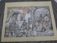 "Anton Pieck One Man Band Print 1972 - 10"" x 8"""