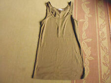 LOVELY CUTE BROWN POLYCOTTON SINGLET TOP BY COCO LATTE SIZE 12 - BARGAIN CHEAP