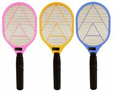 BUG ZAPPER RACKET ELECTRONIC MOSQUITO FLY SWATTER INSECTS ELECTRIC BAT HAND 3pk