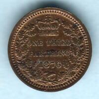 Great Britain.  1876 1/3rd Farthing..  gEF/EF
