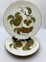 """3 Vintage STANGL POTTERY ORCHARD SONG DINNER PLATES  10 1/4"""""""