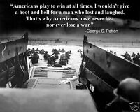 "George S. Patton ""Americans"" Quote D-Day Normandy Invasion World War 2 WWII"