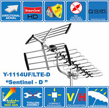 """SENTINEL- D"" LTE READY - SUPER HIGH GAIN DIGITAL HD TV OUTDOOR ANTENNA FREEVIEW"