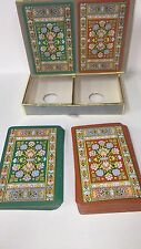 Vintage Congress Set 2 Decks Playing Cards Boxed Extra Large #'s.