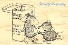 HOUSE MOUSE First Aid Nurse Wood Mounted Rubber Stamp STAMPENDOUS HMP09 New