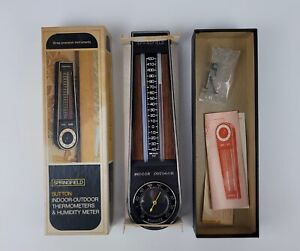Vintage Springfield Sutton Indoor Outdoor Analog Thermometer Humidity Meter NEW