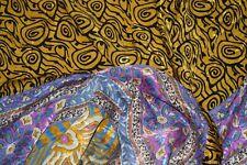 Vintage Raund Print  Saree Crepe Silk Soft Craft Making Arts Dress Sari Fabric