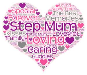 step mum word art gift present keepsake birthday