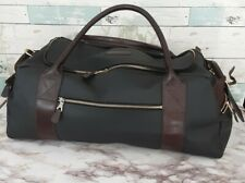 Mulholland  Black & Brown Oval Duffle Bag