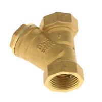 DN15 1/2 BSP Female Type Y Brass Strainer Booster Plumbing Filter Valve