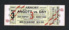 1940 Lightweight Championship Sammy Angott Davey Day Jack Dempsey boxing ticket
