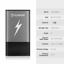 TCSUNBOW Portable Solid State Drive External 1TB SSD  external 4 pc laptop phone