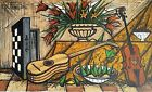 Bernard Buffet, Instruments de musique, fleurs et fruits 1988, Signed Lithohraph