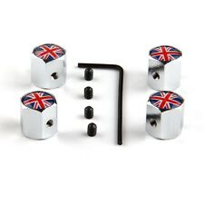4* Anti-theft Car Wheel Tire Valve Stem Air Cap Britain UK United Kingdom Flag
