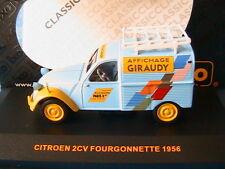 CITROEN 2CV FOURGONNETTE TOLEE 1956 AFFICHAGE GIRAUDY IXO CLC048 1/43 UTILITAIRE