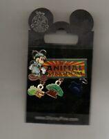 DISNEY PIN Animal Kingdom Theme Park Logo Mickey Mouse Dangle