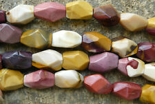 Mookite Jasper gemstone beads Chunky faceted freeform 19count