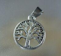20 mm Keltisch Lebensbaum Kettenanhänger mit Edelstahl Schlaufe