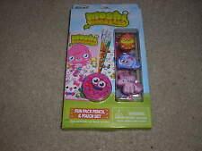 New Rose Art Moshi Monsters Fun Pack Pencil & Pouch Set Coolio Doris Angel