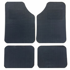 Black Rubber Universal Mats Fits All Cars - One Size Fits All