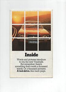 1972 Vauxhall car brochure: Viva HC, Firenza, Victor FE, VX4/90, Ventora