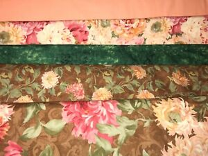 5 YARDS  Quilt Fabric Kit - Peach, Browns & Pink - SSI Splendid Hues & Others